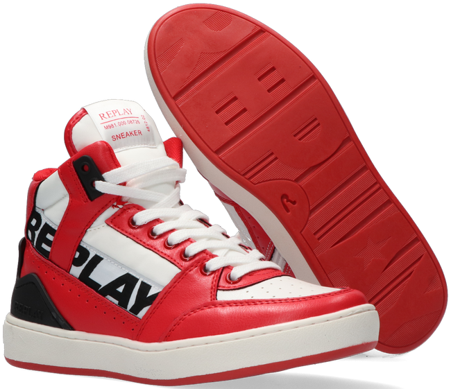 Rote REPLAY Sneaker high CAMPOS  - large