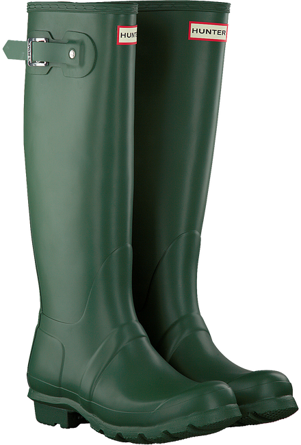 Grüne HUNTER Gummistiefel WOMENS ORIGINAL TALL - large