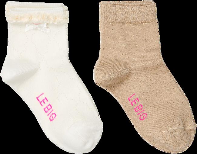 Weiße LE BIG Socken ROBERTA SOCK 2-PACK  - large