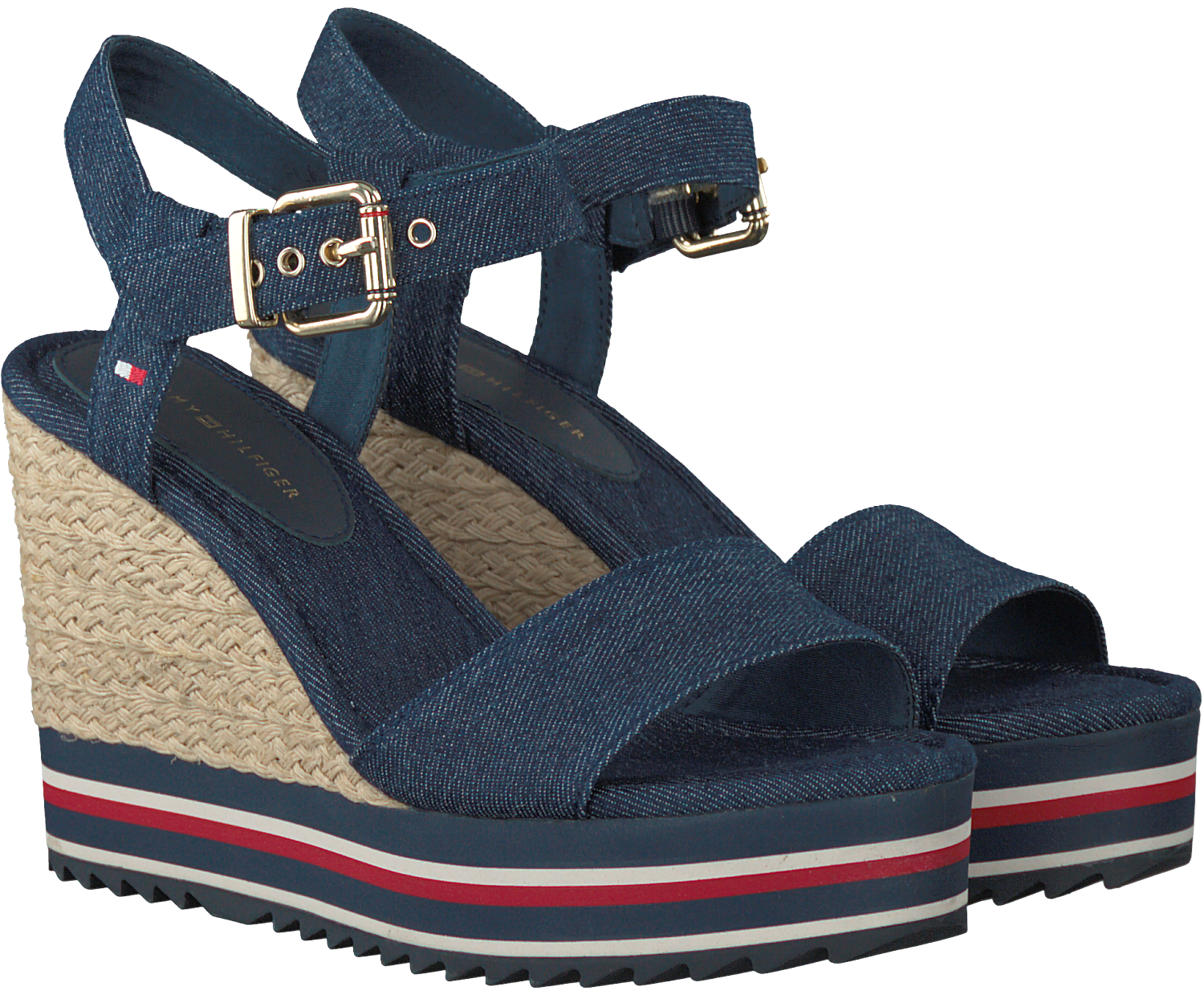 blaue tommy hilfiger sandalen veranice 1d schuhmode online. Black Bedroom Furniture Sets. Home Design Ideas