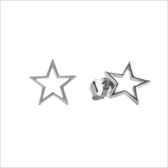 Silberne ALLTHELUCKINTHEWORLD Ohrringe PARADE EARRINGS OPEN STAR - large