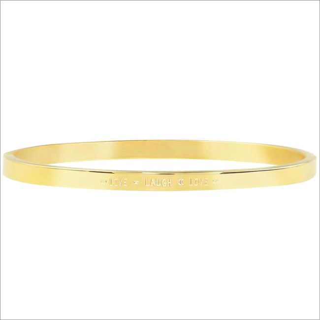 Goldfarbene MY JEWELLERY Armband lIVE LAUGH LOVE BANGLE  - large