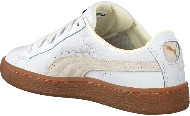 Weiße PUMA Sneaker BASKET CLASSIC GUM DELUXE JR - large