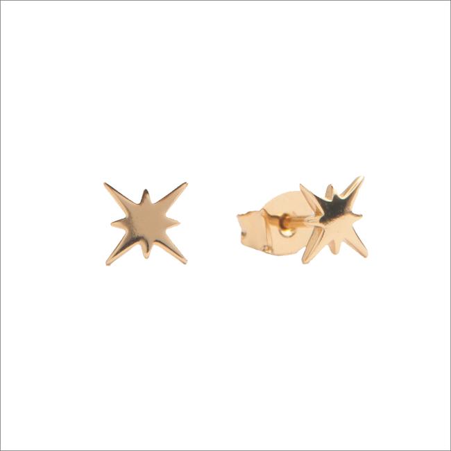 Goldfarbene ALLTHELUCKINTHEWORLD Ohrringe PARADE EARRINGS STARBURST - large