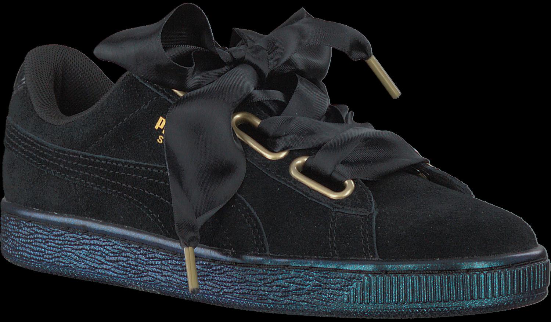 Schwarze PUMA Sneaker SUEDE HEART SATIN