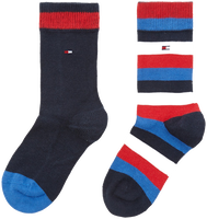 Blaue TOMMY HILFIGER Socken TH KIDS BASIC STRIPE SOCK 2P - medium