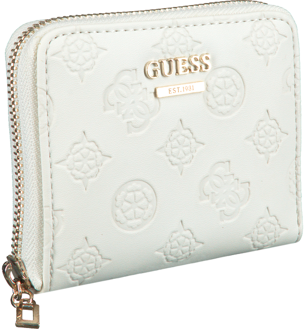 Weiße GUESS Portemonnaie LOGO LOVE SLG  - large