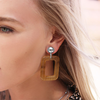 Silberne MY JEWELLERY Ohrringe SQUARE EARRINGS - small
