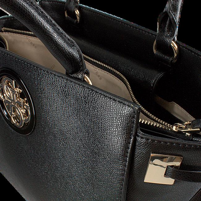 Schwarze GUESS Handtasche OPEN ROAD SOCIETY SATCHEL  - large