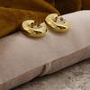 Goldfarbene NOTRE-V Ohrringe OORBEL RING  - small