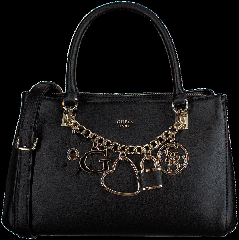 Schwarze GUESS Handtasche HADLEY GIRLFRIEND SATCHEL Omoda