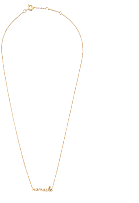 Goldfarbene ALLTHELUCKINTHEWORLD Kette URBAN NECKLACE NAMASTE - large