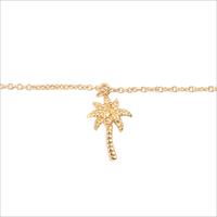 Goldfarbene ALLTHELUCKINTHEWORLD Armband SOUVENIR BRACELET PALM TREE - medium