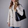 Schwarze MYOMY Handtasche WRAPPED WORKBAG  - small