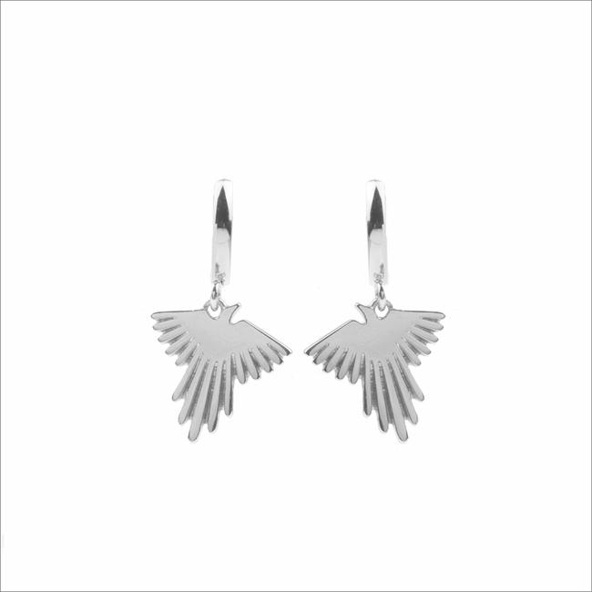 Silberne ALLTHELUCKINTHEWORLD Ohrringe SOUVENIR EARRINGS EAGLE - large
