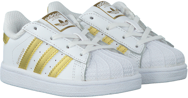 Weiße ADIDAS Sneaker SUPERSTAR KIDS 1 - large