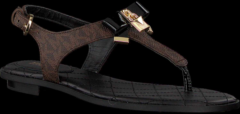 braune michael kors sandalen alice thong. Black Bedroom Furniture Sets. Home Design Ideas