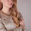Goldfarbene NOTRE-V Kette KETTING PLATTE SCHAKEL #1  - small