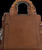 Cognacfarbene MYOMY Umhängetasche MY LOCKER BAG HANDBAG  - small
