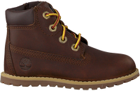 Braune TIMBERLAND Schnürboots POKEY PINE 6IN BOOT KIDS  - medium