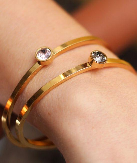 Goldfarbene MY JEWELLERY Armband LITTLE STONE BANGLE - large