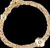 Goldfarbene ALLTHELUCKINTHEWORLD Armband CHARACTER BRACELET LETTER GOLD - small