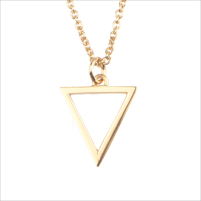 Goldfarbene ALLTHELUCKINTHEWORLD Kette SOUVENIR NECKLACE OPEN TRIANGL - large