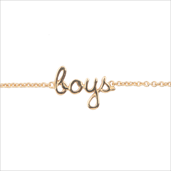 Goldfarbene ALLTHELUCKINTHEWORLD Armband URBAN BRACELET BOYS - large