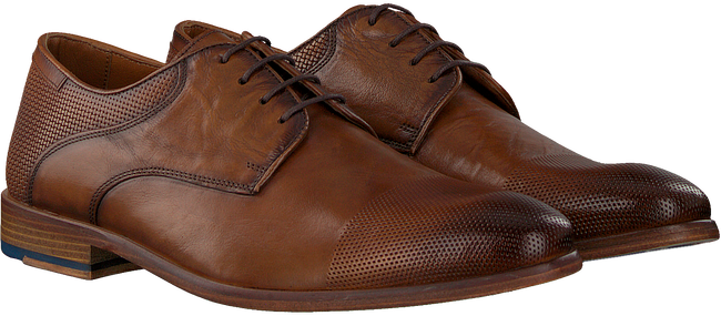 Cognacfarbene MAZZELTOV Business Schuhe 5053  - large