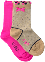 Mehrfarbige/Bunte LE BIG Socken TYSKE SOCK 2-PACK  - medium