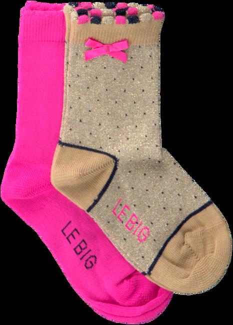 Mehrfarbige/Bunte LE BIG Socken TYSKE SOCK 2-PACK  - large