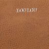 Cognacfarbene LOULOU ESSENTIELS Clutch 04CLUTCHM ROBUSTE  - small