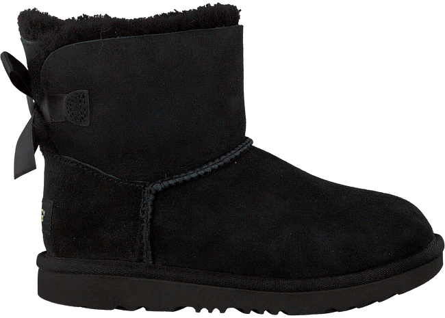 Schwarze UGG Ankle Boots MINI BAILEY BOW II KIDS - large