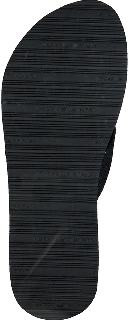 Schwarze TOMMY HILFIGER Pantolette FLAT BEACH  - large
