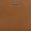 Cognacfarbene LOULOU ESSENTIELS Umhängetasche 21POUCH SCALES  - small