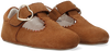 Cognacfarbene TON & TON Babyschuhe CHARLOTTA  - small