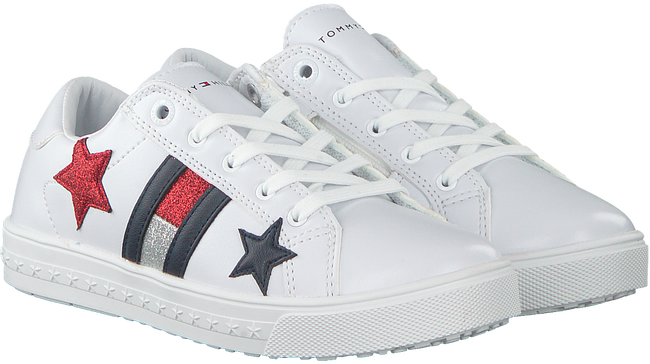 Weiße TOMMY HILFIGER Sneaker LOW CUT LACE UP SNEAKER  - large