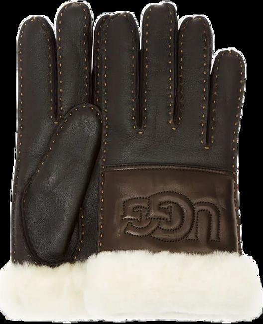 Schwarze UGG Handschuhe SHEEPSKIN LOGO GLOVE - large